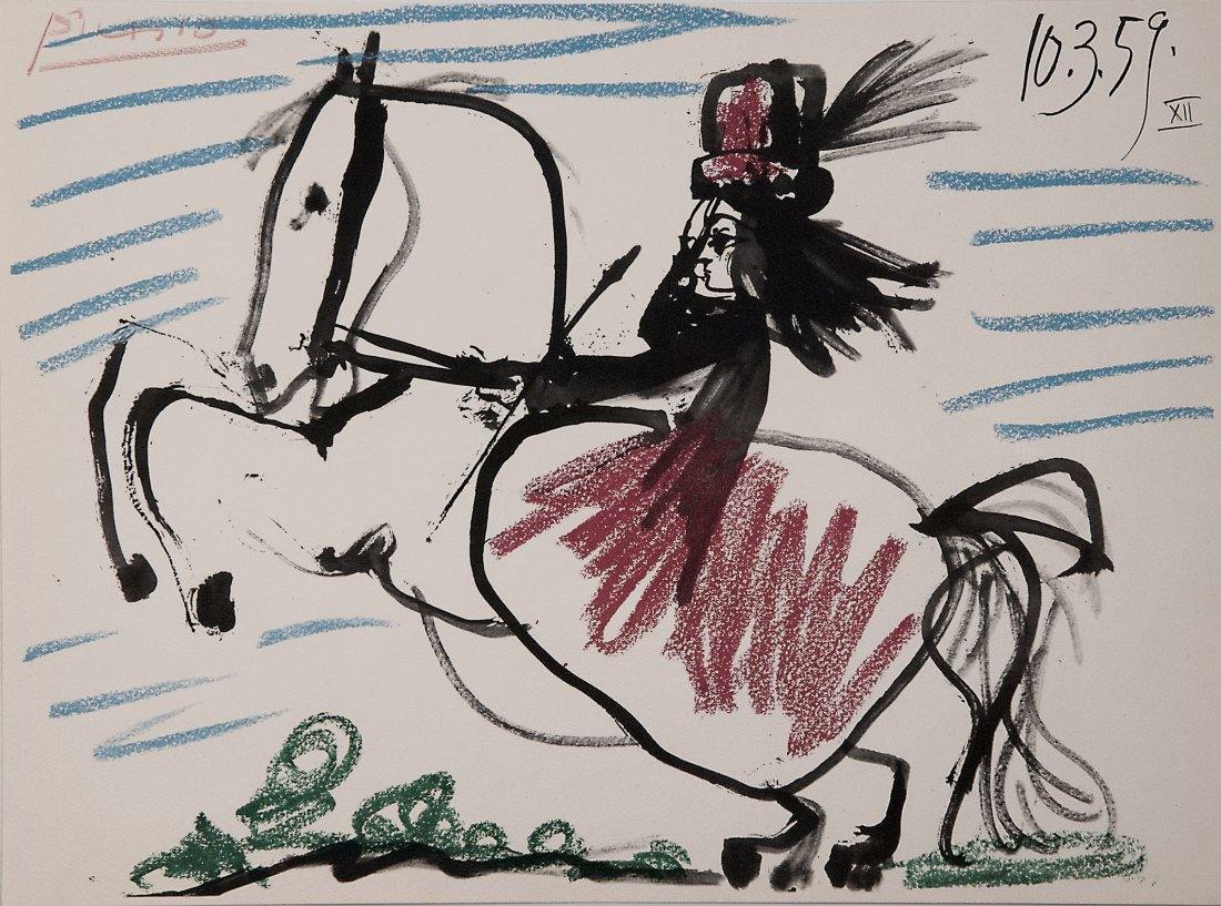 Pablo Picasso. 'Lady on a horse', 1959 (1961) from