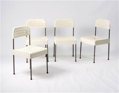 Enzo Mari. Four 'Box' chairs, 1971. H. 82 x 43 x 45 cm.