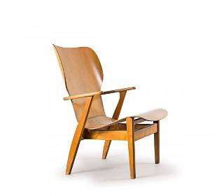 Ilmari Tapiovaara. 'Domus Lux' armchair, c1948. H. 84 x