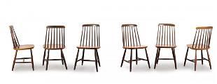 Ilmari Tapiovaara . Six 'Fanett' chairs, 1950s. H. 84 x