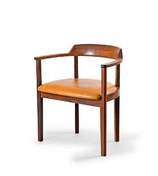 J. C. A. Jensen. Armchair, 1950s. H. 70.5 x 63 x 47 cm.