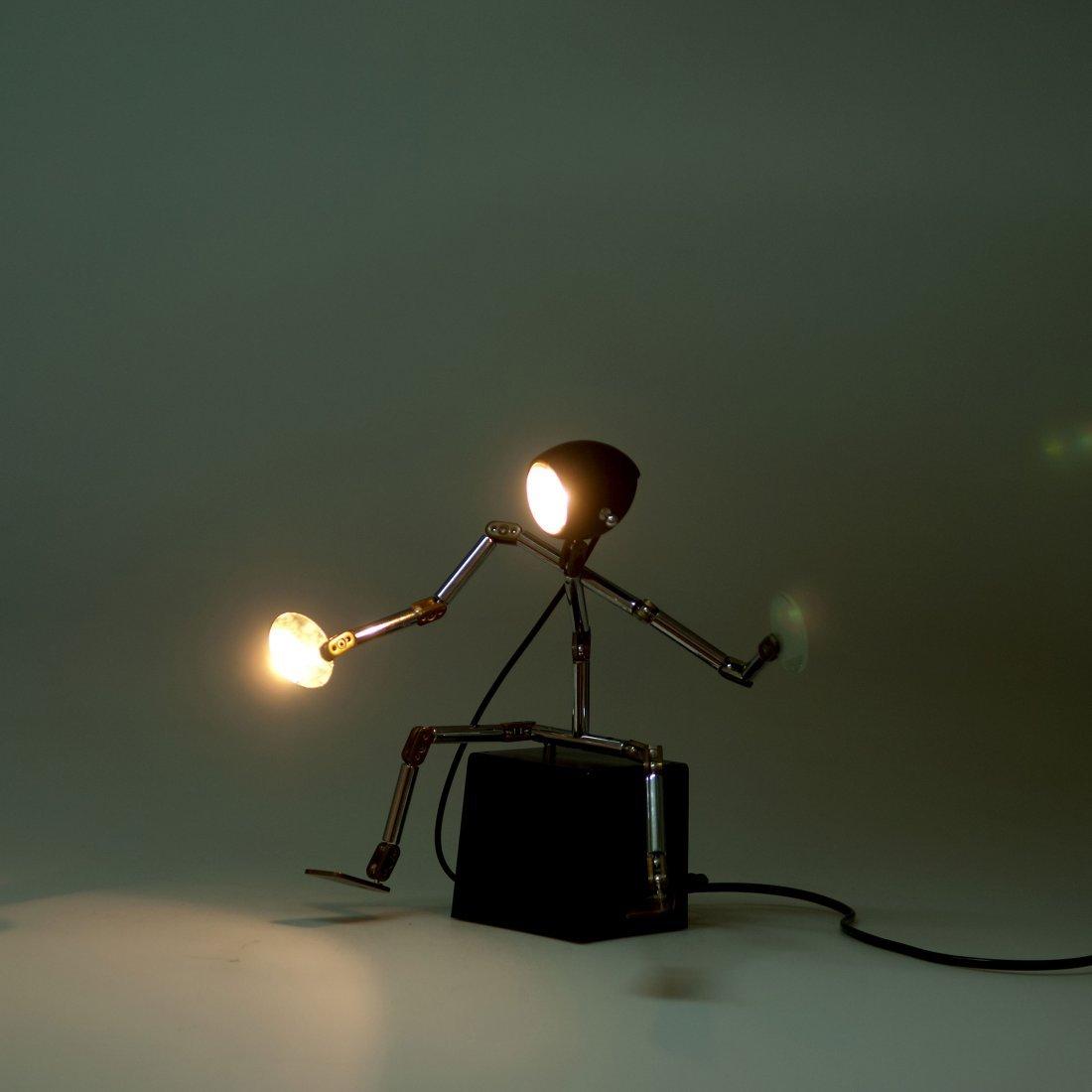 Ygnacio Baranga. 'Osqar' table light, c1985. H. 29 x 19 - 4