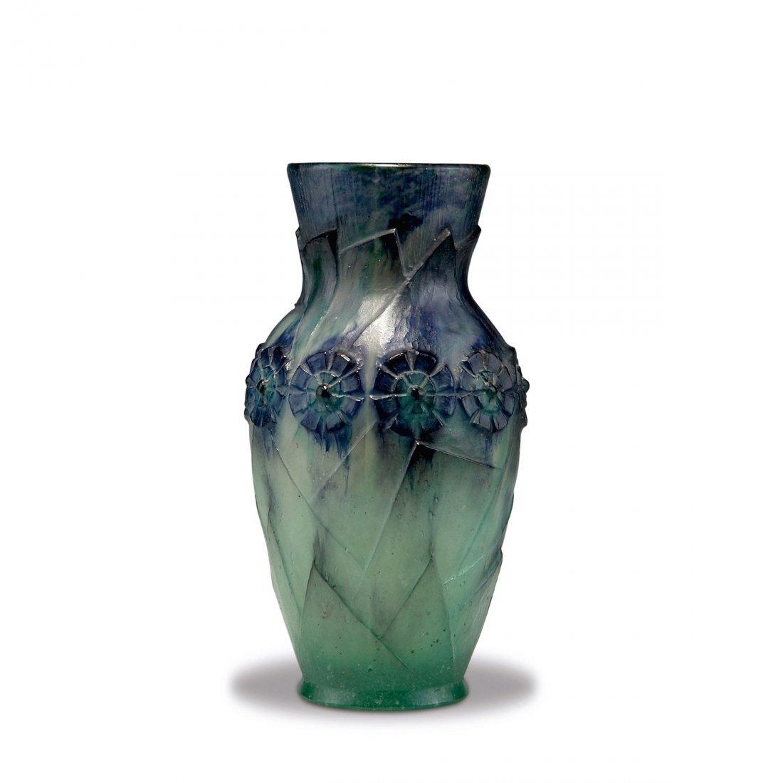 'Feuillages modernes et fleurs' vase, 1925