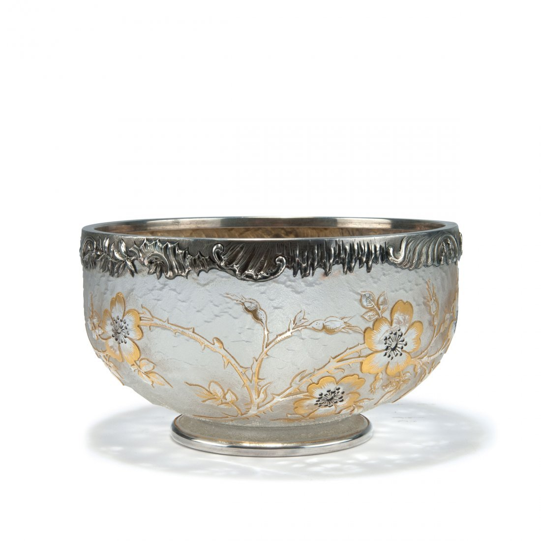 'Ronces' bowl with silver mounting by J. Martel, Paris,