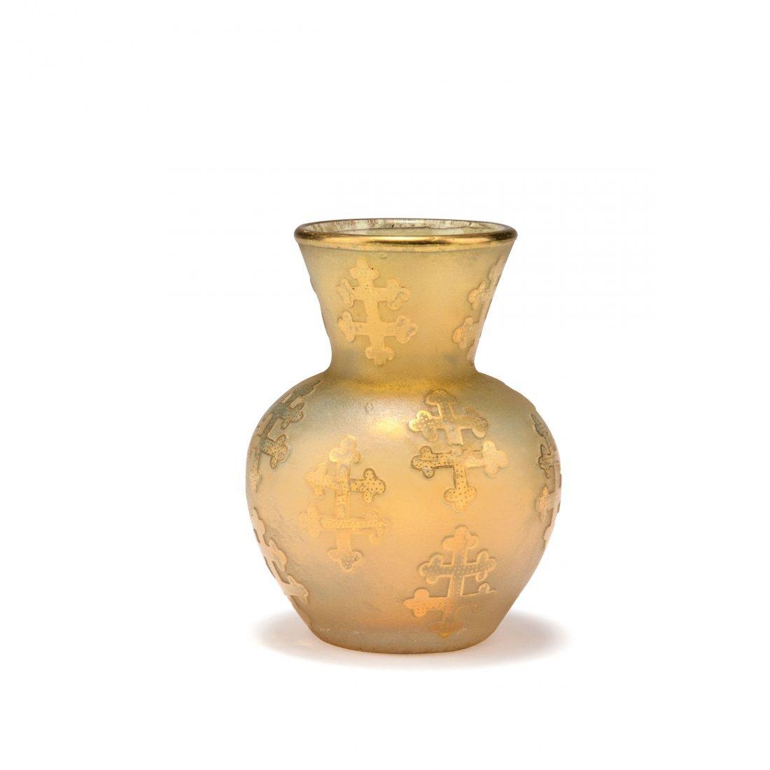 Small 'Croix de Lorraine' vase, c1895