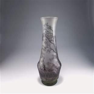 Tall 'Pluviose' vase, c1900