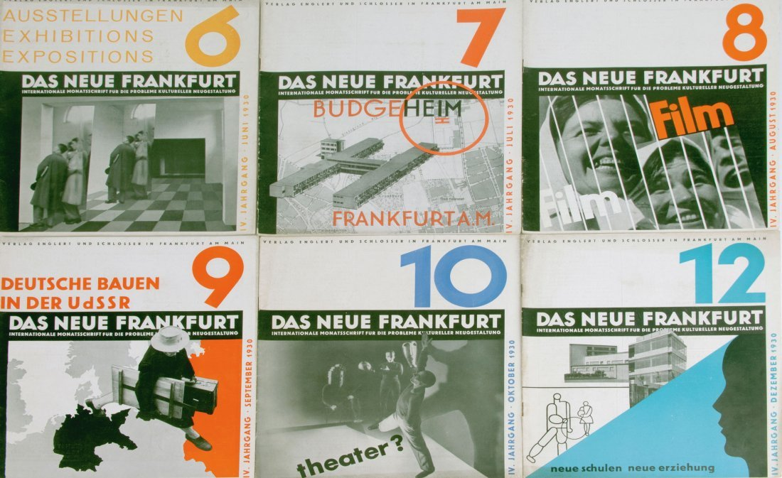 Six magazines: Neues Frankfurt year 1930, nos. 6-10 and