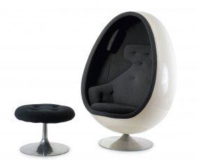 'ovalia' Easy Chair And Stool, 1968