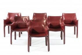 Six 'cab 412' Chairs, 1977