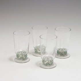 Four 'dampierre' Champagne Glasses, 1931