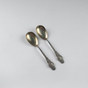 Two 'tristan And Iseult' Serving Spoons, 1903