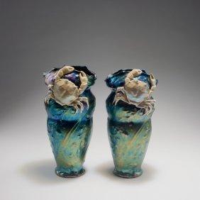 Two 'crab' Vases, C1905