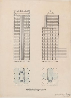 'chicago Tribune' (architectural Drawing), 1923