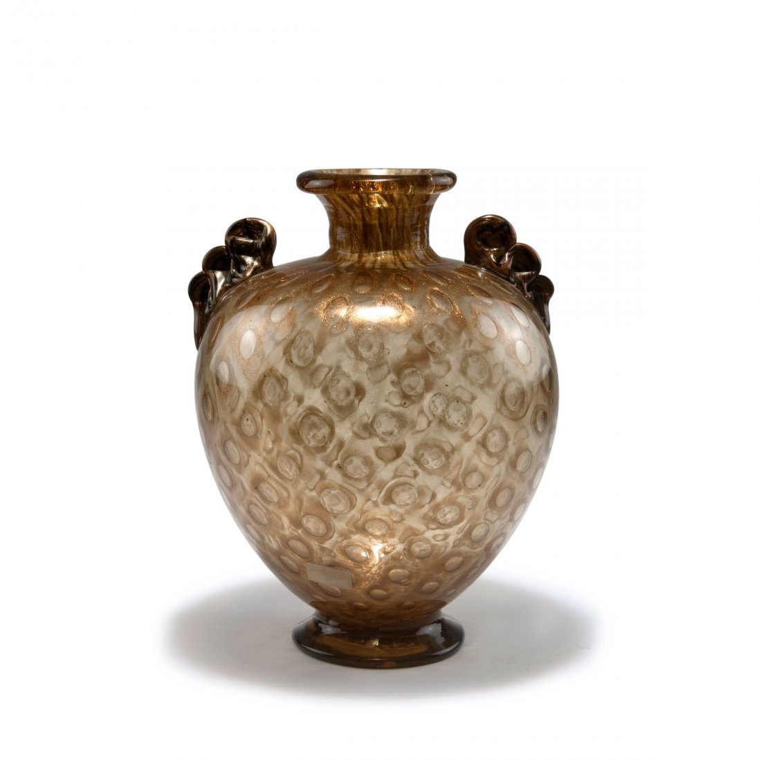 'Avventurina a bolle' vase with handles, c1936