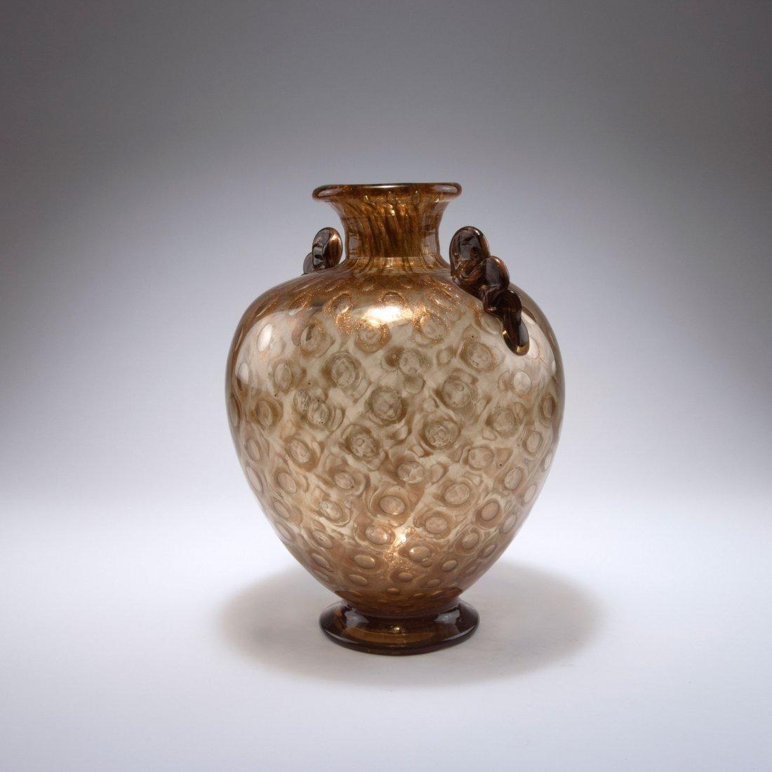'Avventurina a bolle' vase with handles, c1936 - 2