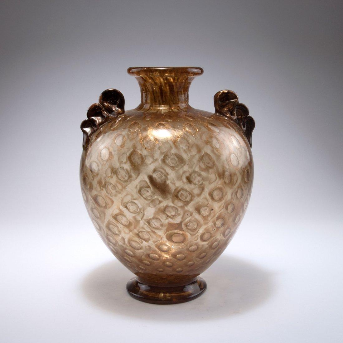 'Avventurina a bolle' vase with handles, c1936 - 3