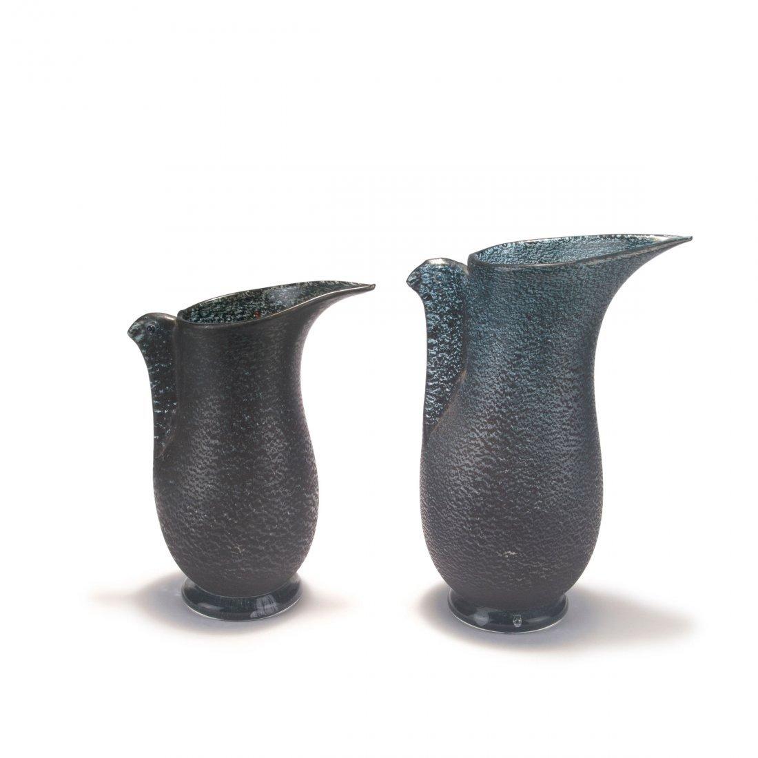 Two 'Barbarico' vases, c1951
