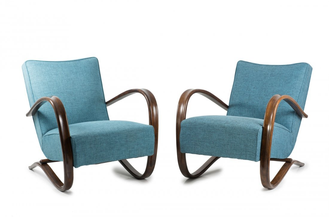 Two 'H 269' armchairs, 1930/40s