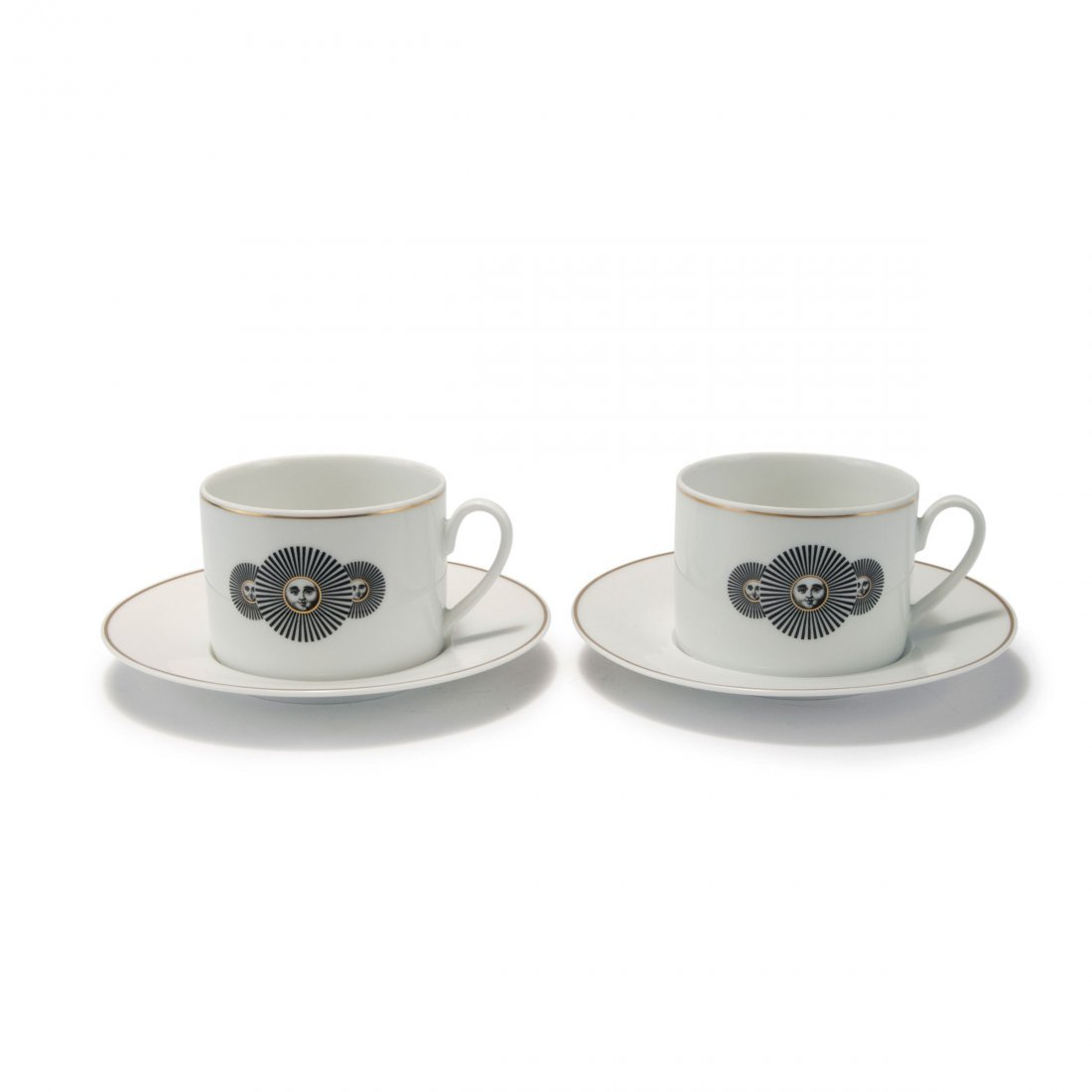 Two 'Soli' cups and saucers, 1990s