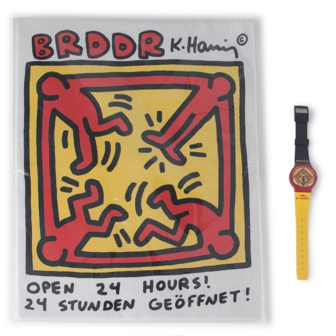 'BRDDR' watch and T shirt, 1990