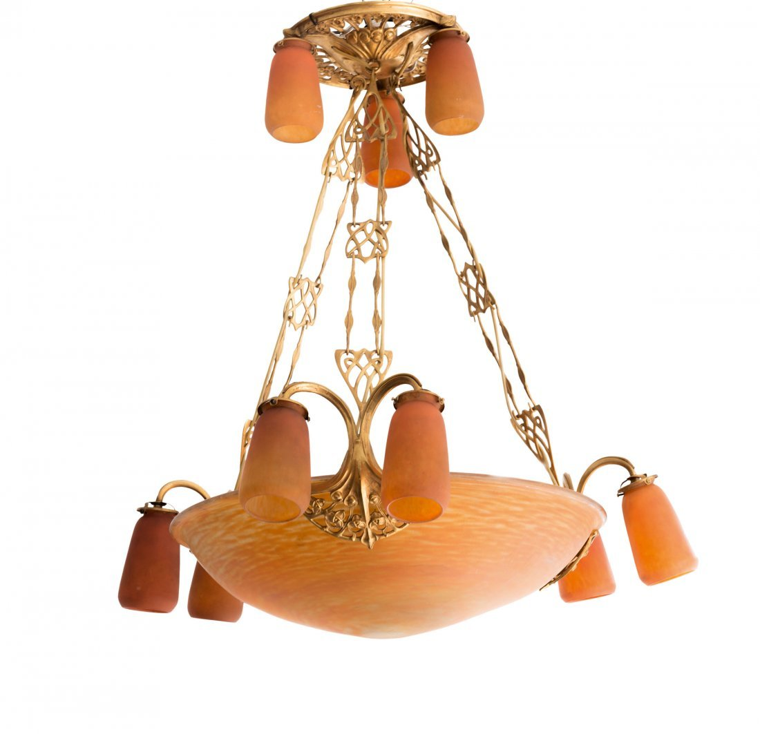 Large 'Sagittaire' ceiling light, mounting by Louis