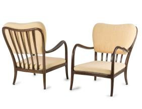 Two easy chairs, 1940/50s
