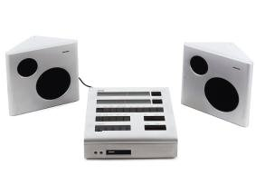 'MC 1' stereo system with 2 'BMC 1' loudspeakers, 1974