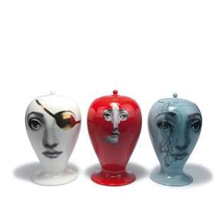 Three 'Tema e Variazioni' urns, 2000