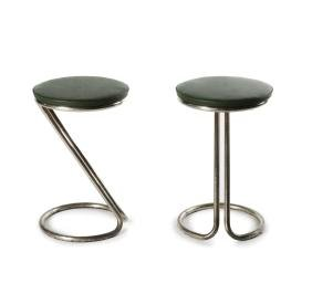 Two bar stools, c1930