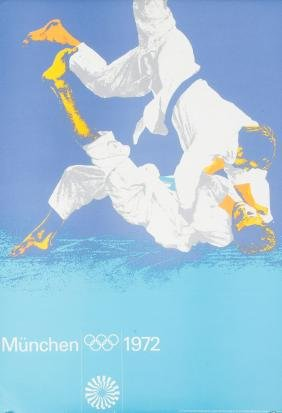 13 posters for the Olympic Games in Munich 1972.