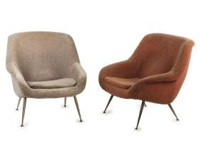 Two easy chairs, c1955