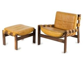 Easy chair with ottoman, c1958