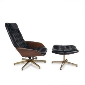 'Mr.' lounge chair with ottoman, c1960