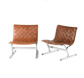 Two 'PLR 1' easy chairs, 1968