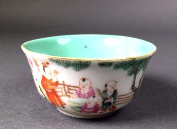 A CHINESE FAMILLE-ROSE CUP, CHRISTIE'S