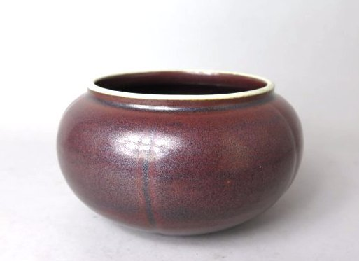 A CHINESE IRON RED GLAZED PORCELAIN BOWL, QING DYN.
