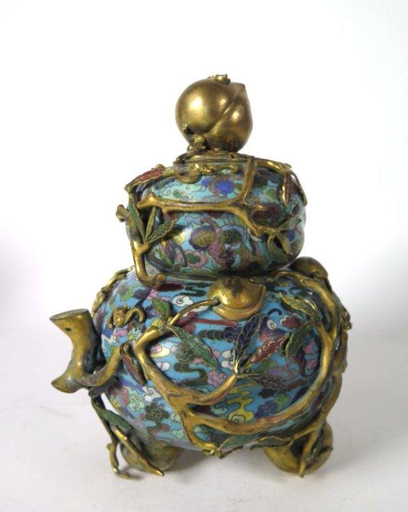 A Chinese Cloisonne Enamel Tripod Censer, 18th/19th C