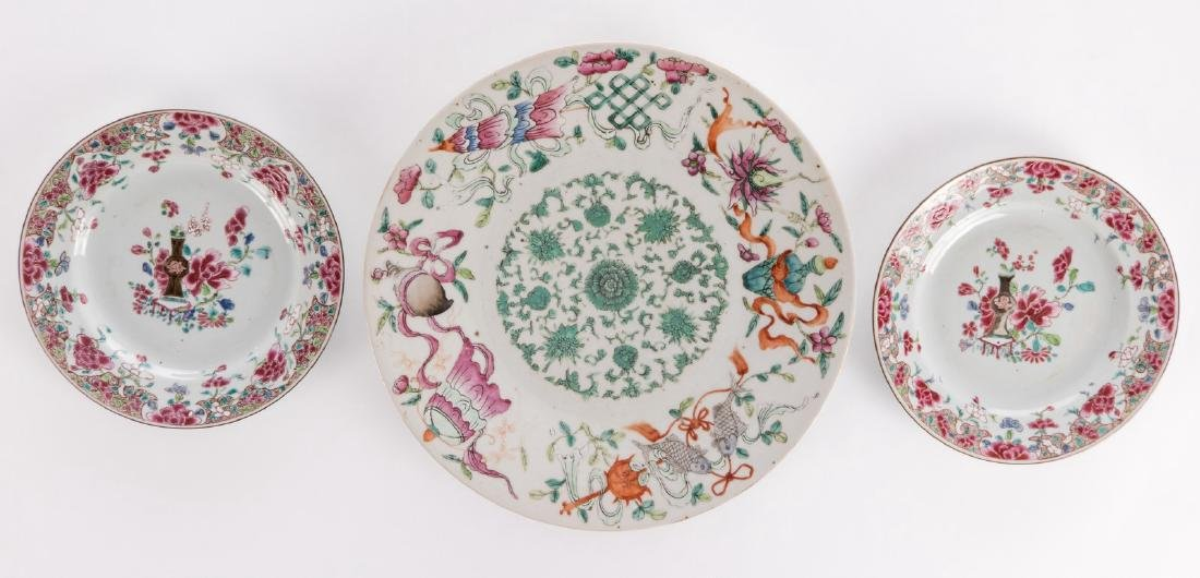 A Chinese famille rose plate, marked Guangxu, 19thC; - 2