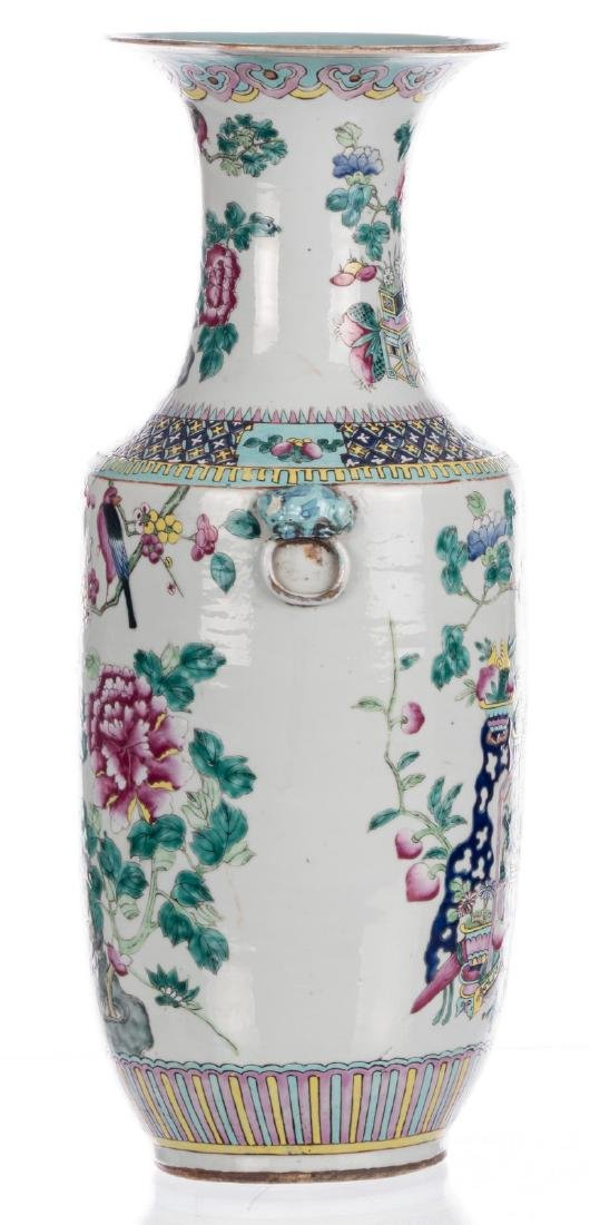 A Chinese famille rose and polychrome vase, decorated - 2