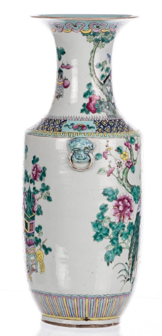 A Chinese famille rose and polychrome vase, decorated - 4