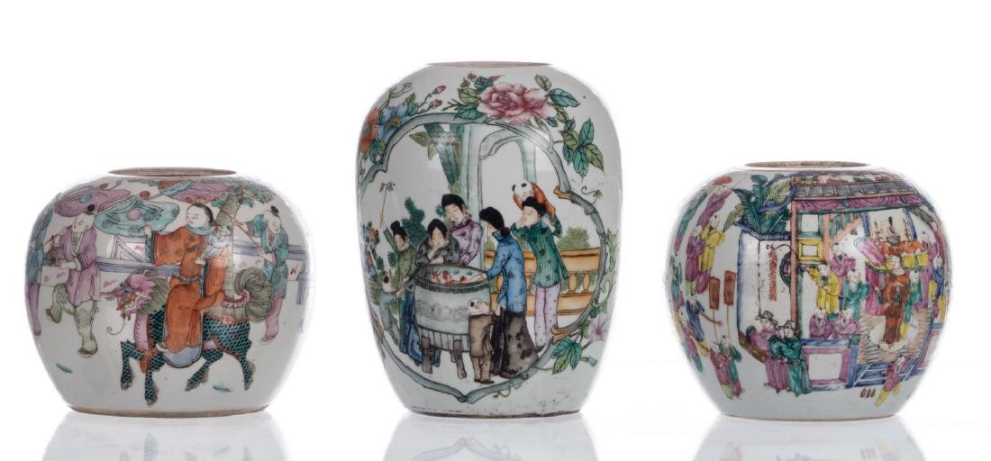 Five Chinese famille rose and polychrome decorated - 2