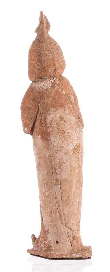 A Tang figurine so-called 'fat lady' with cold paint, - 3
