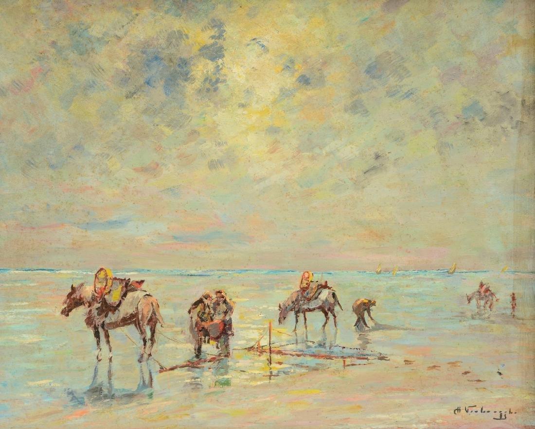 Verbrugghe Ch., 'Les pcheurs de crevettes Knocke',