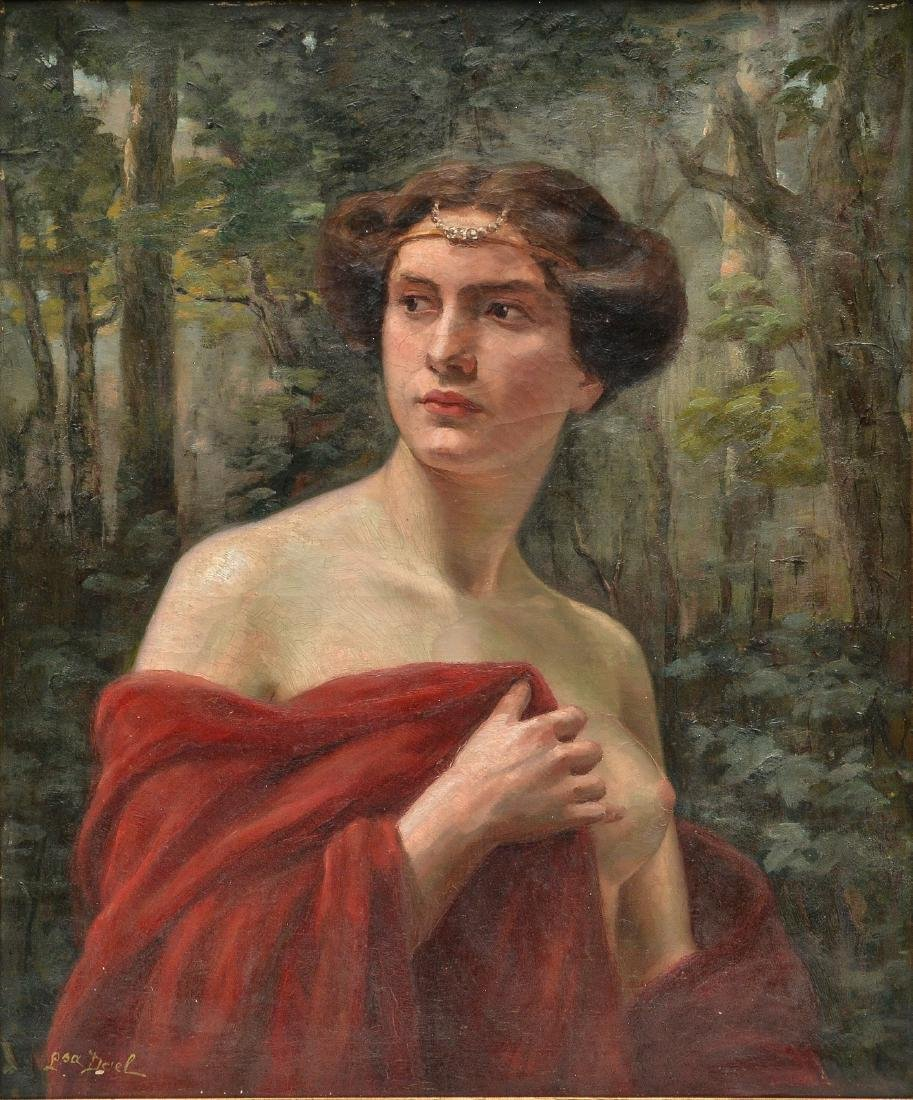 Dael Louisa, the portrait of a charming nymph, oil on