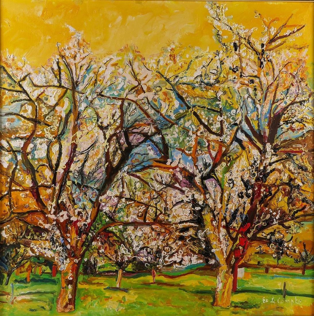 Le Compte E., 'Molenberg', oil on canvas, 100 x 100 cm