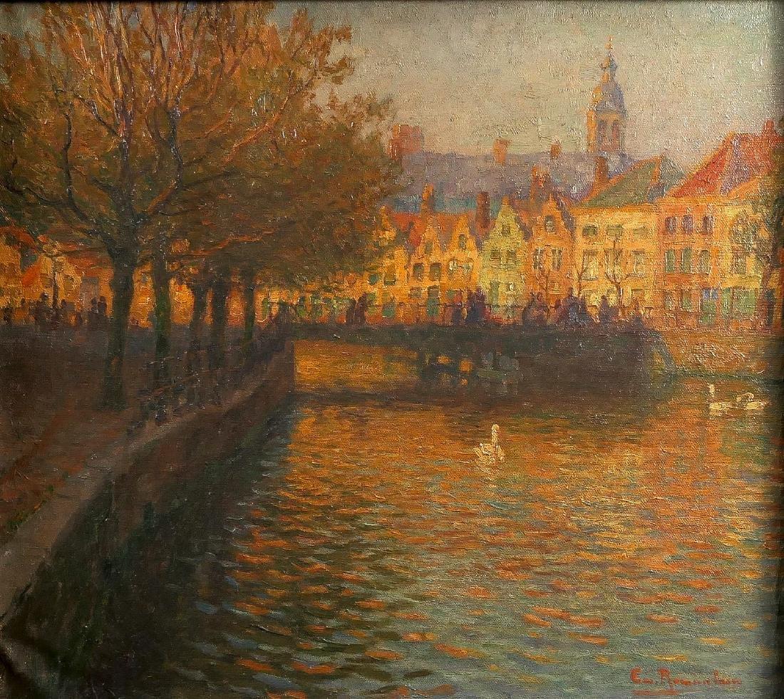 Rommelaere E., the old wooden Snaggaardbrug in Bruges,