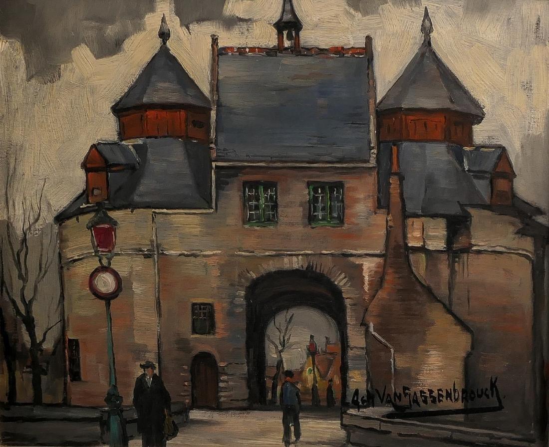 Van Sassenbrouck A., 'De Ezelpoort te Brugge', oil on
