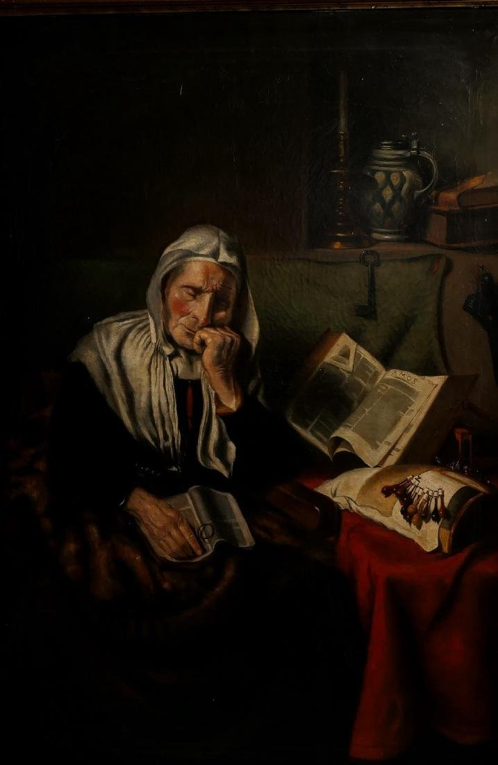No signature, the dozing lacemaker, after Nicolaes