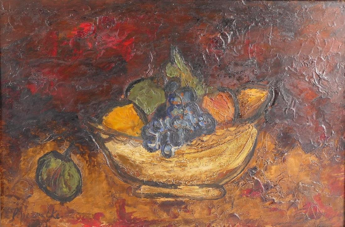 Permeke P., still life with fruit, oil on panel, 39,5 x