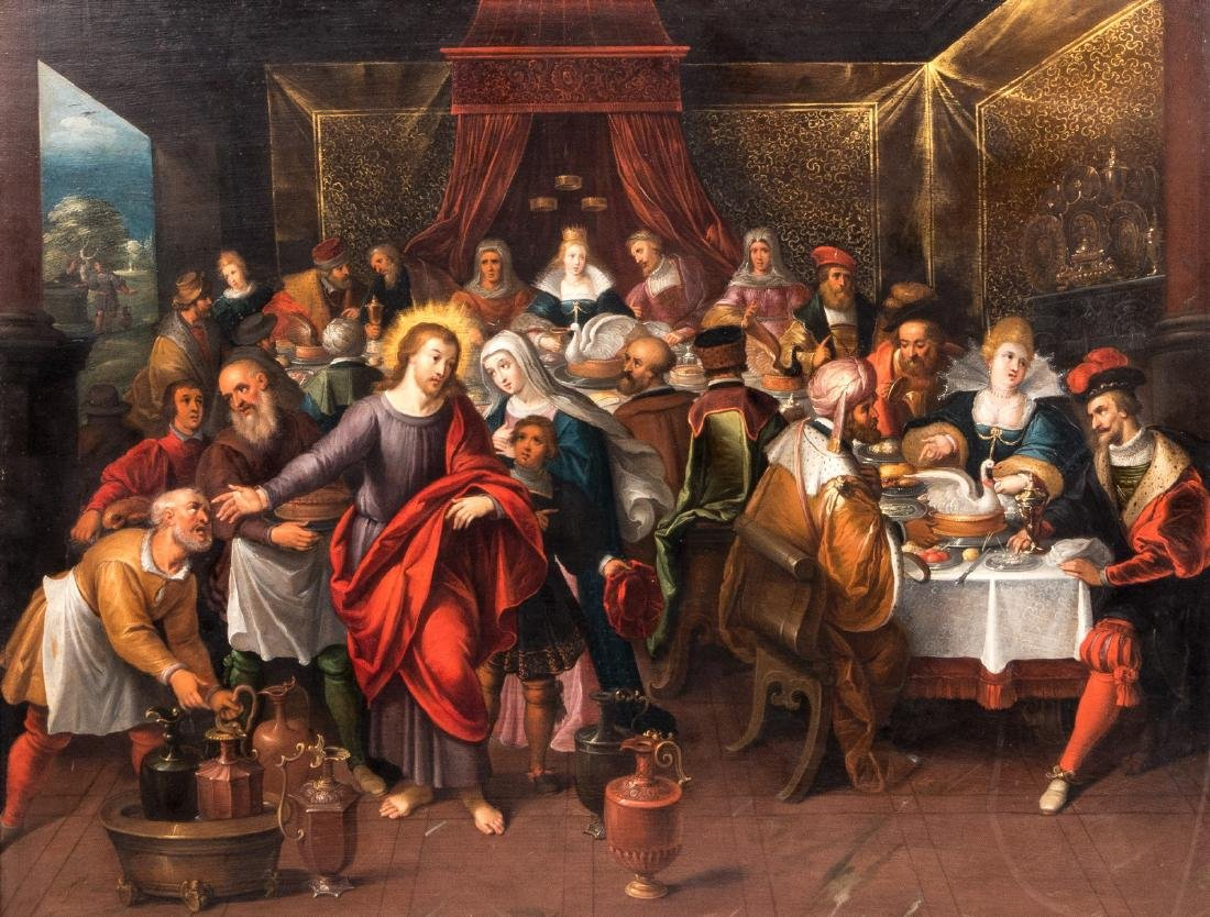 Attributed to Cornelis I De Baeilleur, the wedding at